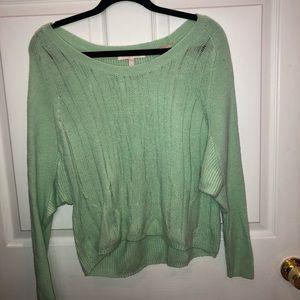 Victoria's Secret mint green sweater